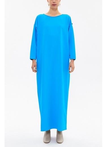 Societa Bol Kesim Örme Uzun Elbise 92175 Turkuaz